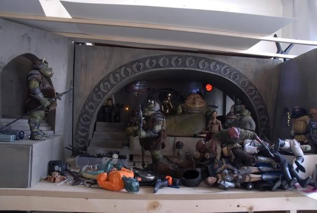 Custom Diorama 1:6 Scale Jabba the Hutt Sideshow Bsk4
