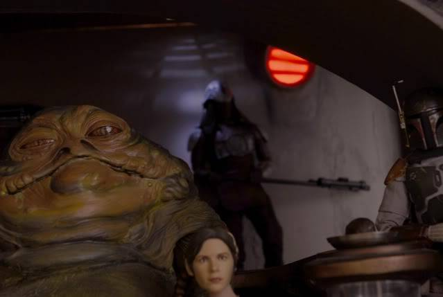 Custom Diorama 1:6 Scale Jabba the Hutt Sideshow Peekaboo