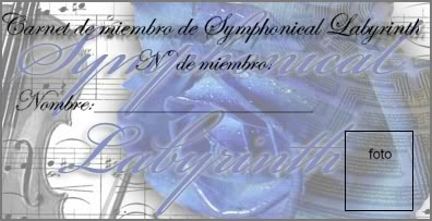Carnet de miembro de Symphonical Labyrinth Carnetdemiembro