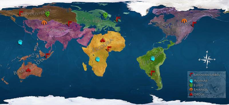 Cartografía, Mapas de Ayla, Small%20Ayla%20continentes