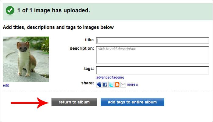 Hvordan laste opp bilder via Photobucket Bilde4