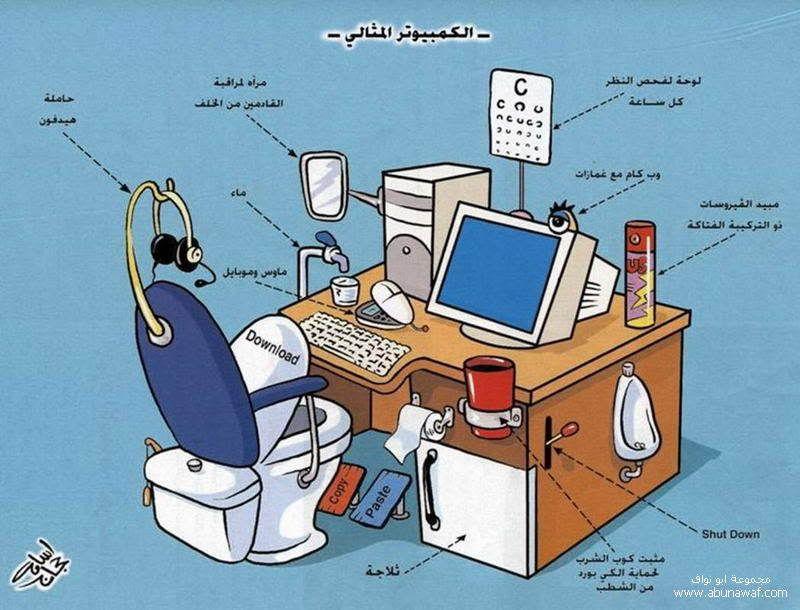 زاوية الكاريكاتير ؛،؛،؛ متجدد Computer