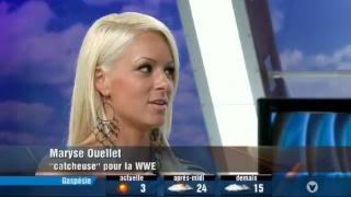 WWE : Maryse Ouellet & Melina Vs Ashley Massaro & Lita Mo4