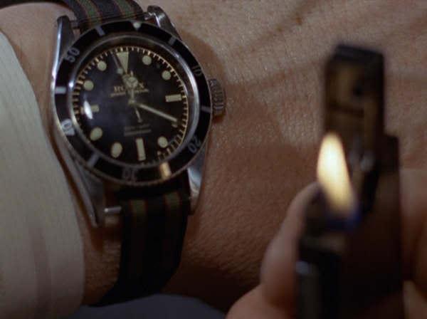 Nato sur Seiko Samurai Ti Goldfinger-Rolex2