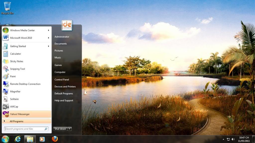 Bản ghost Windows 7 Ultimate SP1 32 bit, Office 2010 Menuhiendai1_zps4d02b50f