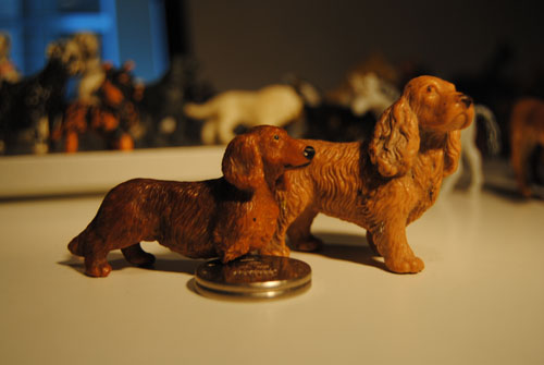 Two old Bullyland dogs and one horse Taxochcockerspaniel_zps4b931b9e