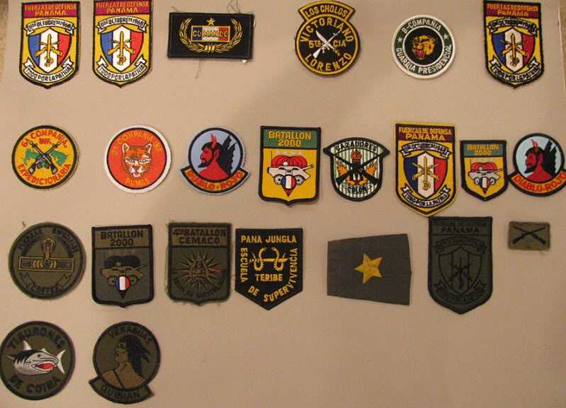 My Panamanian Defense Forces Patch Collection Shot