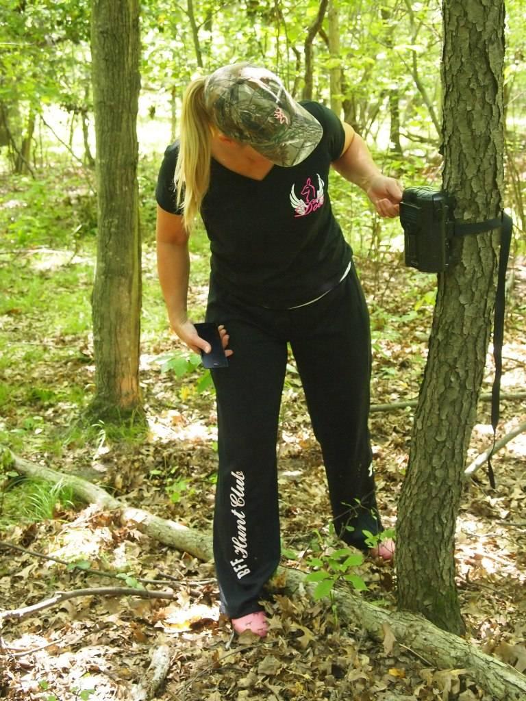Checking the trail camera last fall!! 272343_4561711325160_1262260392_o