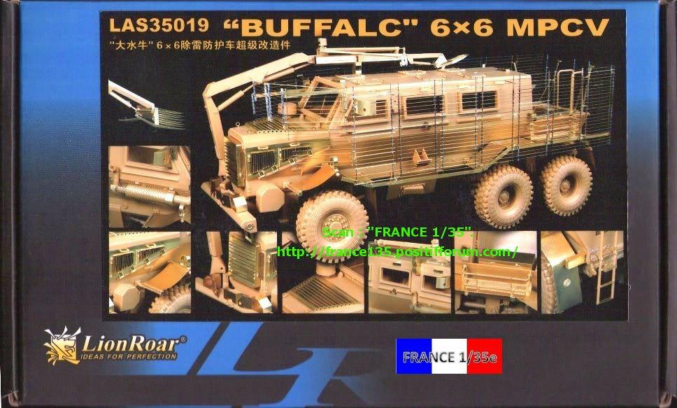 Bare-Armor pour Buffalo 6X6 MPCV. Lion-Roar, ref LAS35019. Photodécoupe et métal. FRANCE135_BAREARMOR_LION-ROAR_1-35_REFLAS35019_01_zps0d1af725