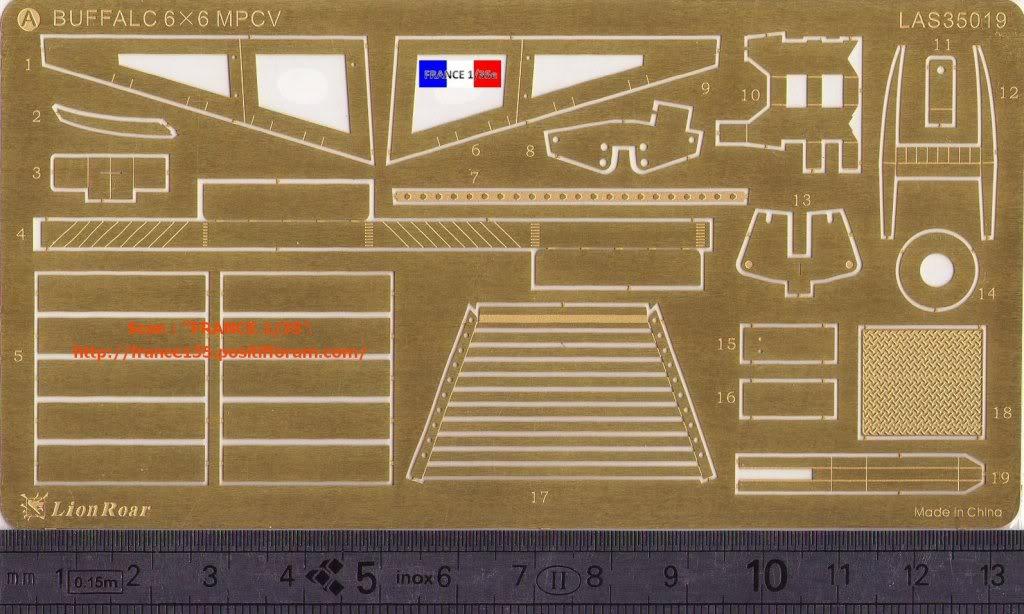 Bare-Armor pour Buffalo 6X6 MPCV. Lion-Roar, ref LAS35019. Photodécoupe et métal. FRANCE135_BAREARMOR_LION-ROAR_1-35_REFLAS35019_02_zpsf5021504