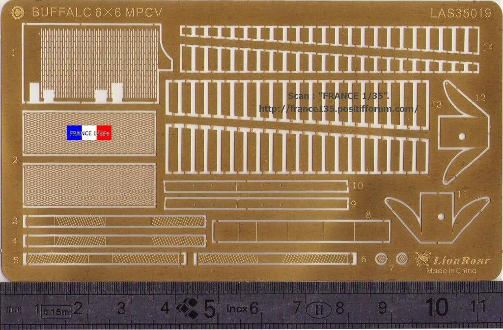 Bare-Armor pour Buffalo 6X6 MPCV. Lion-Roar, ref LAS35019. Photodécoupe et métal. FRANCE135_BAREARMOR_LION-ROAR_1-35_REFLAS35019_04_zps4c0b01ca