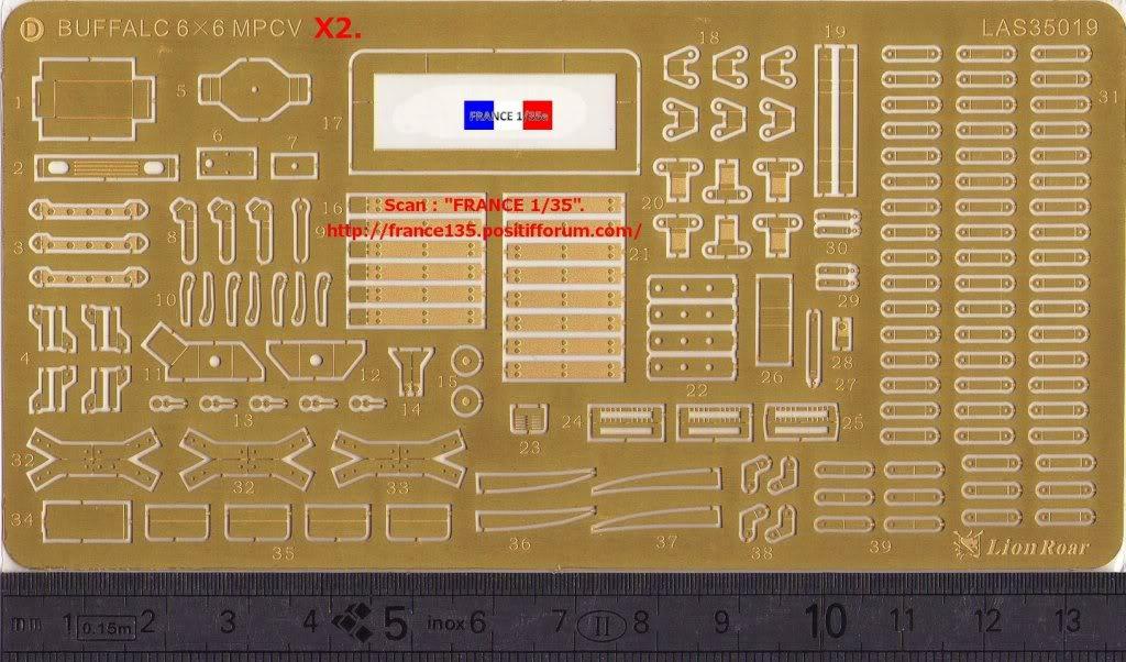 Bare-Armor pour Buffalo 6X6 MPCV. Lion-Roar, ref LAS35019. Photodécoupe et métal. FRANCE135_BAREARMOR_LION-ROAR_1-35_REFLAS35019_05_zpsbc945268