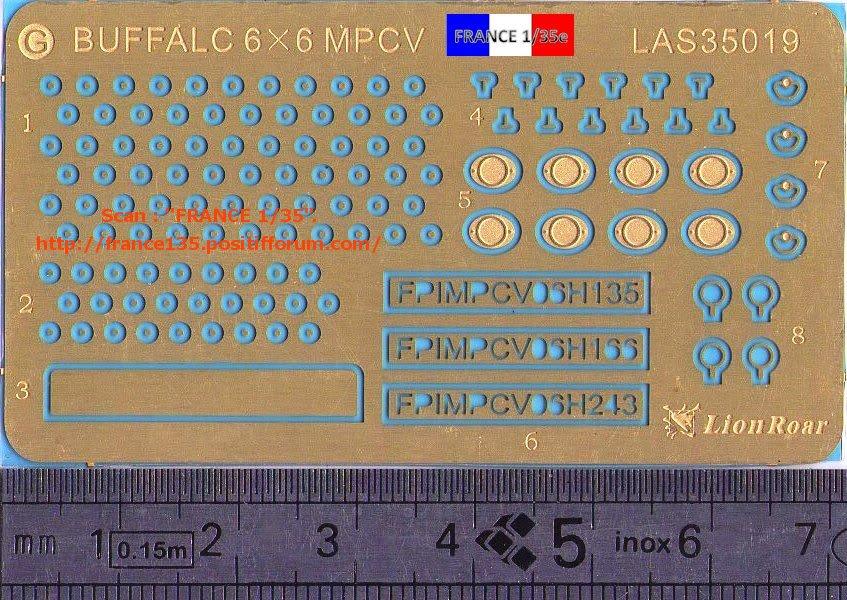 Bare-Armor pour Buffalo 6X6 MPCV. Lion-Roar, ref LAS35019. Photodécoupe et métal. FRANCE135_BAREARMOR_LION-ROAR_1-35_REFLAS35019_08_zpsb95b6540