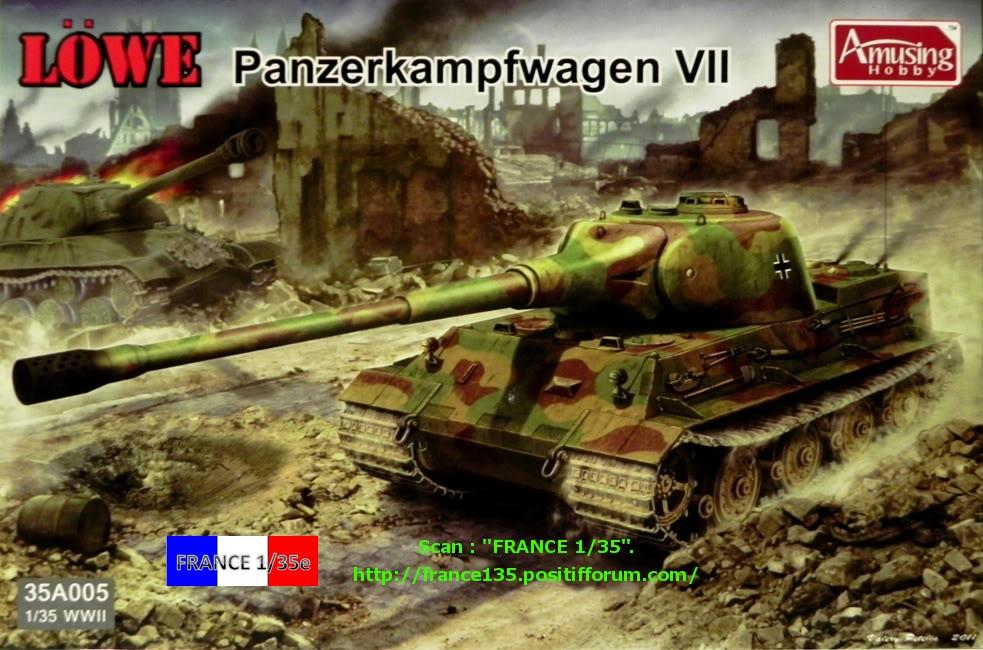"""Panzerkampfwagen VII """"Löwe"""". Amusing-Hobby (Amusinghobby). 1/35, ref 35A005. Plastique injecté, métal et photodécoupe. FRANCE135_PZKWVIILOWE_AMUSINGHOBBY_1-35_REF35A005_01_zps381c632e"""