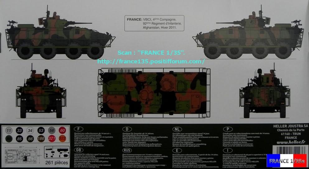 VBCI, Véhicule Blindé de Combat d'Infanterie. HELLER. 1/35, ref 81147. Plastique injecté. HELLER_1-35_VBCI_02_zpsd9b9d14f