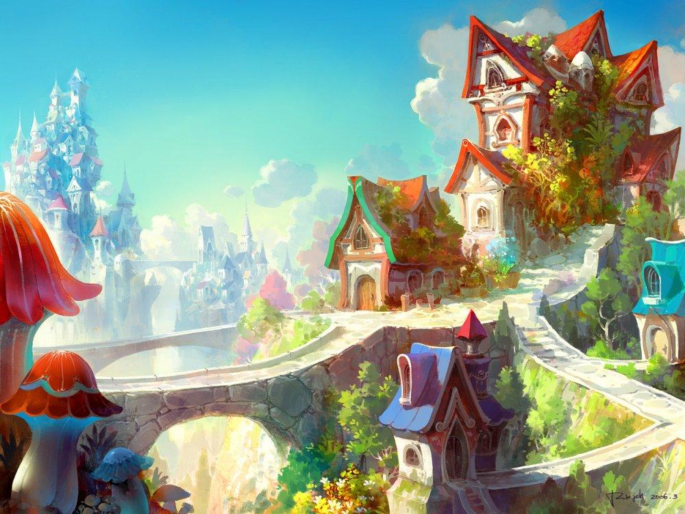 Живопись на тему фантастики, фэнтези, сказки, сюрреализма 1325007383_city-fairy-53_zps027fdb64