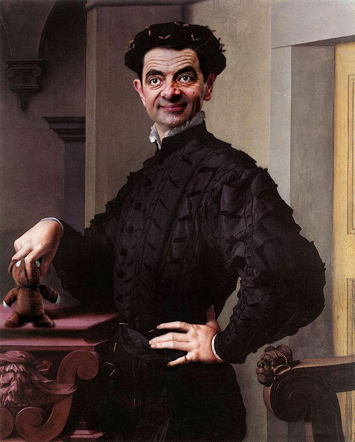 Улыбка (юмор, добрые анекдоты, смешные картинки) - Страница 3 Mr-bean-historic-portraits-rodney-pike-24_zps5cc4cf4b