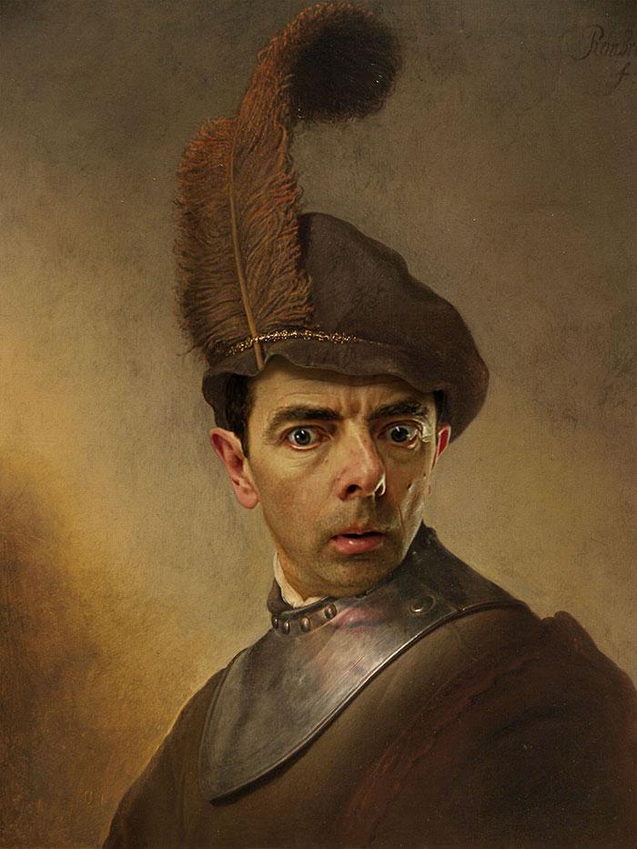 Улыбка (юмор, добрые анекдоты, смешные картинки) - Страница 3 Mr-bean-historic-portraits-rodney-pike-27_zps16a6ecc4