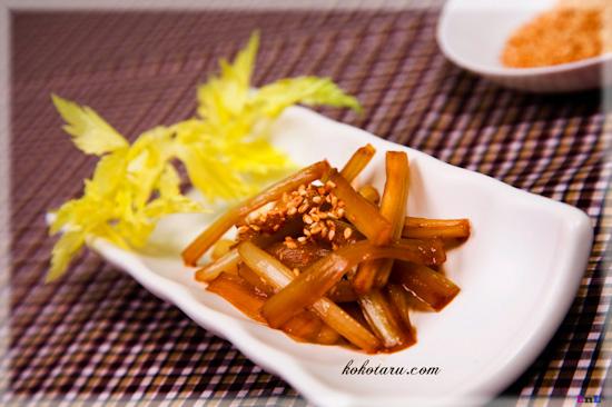 [Nhật Bản - Japan][Recipe]Sauteed celery with sesame – Serori kinpira 2_zps56e673b6