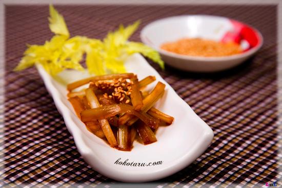 [Nhật Bản - Japan][Recipe]Sauteed celery with sesame – Serori kinpira 3_zps2638a6af