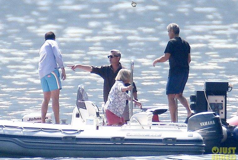 Photos: George Clooney and Amal Alamuddin boating on Lake Como Boat8_zpsd4df3d21