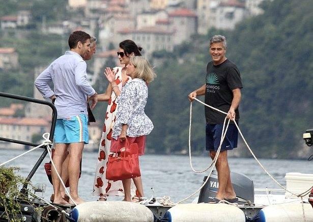 Photos: George Clooney and Amal Alamuddin boating on Lake Como Boatthisweek_zps9ba3cc75