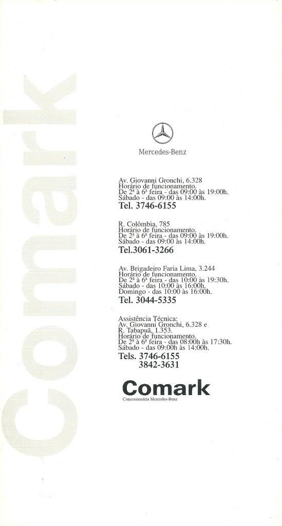 Folhetos de Concessionários COMARK08