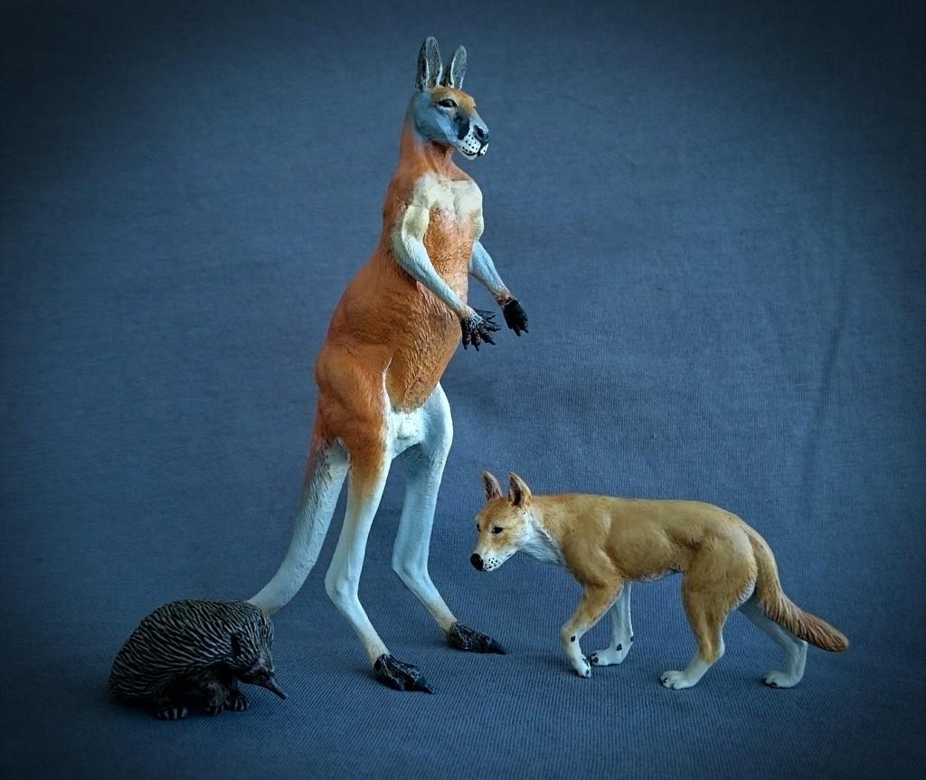 Southlands Replicas - Red Kangaroo Buck, Dingo and Echidna 1_zpsf75lhltx