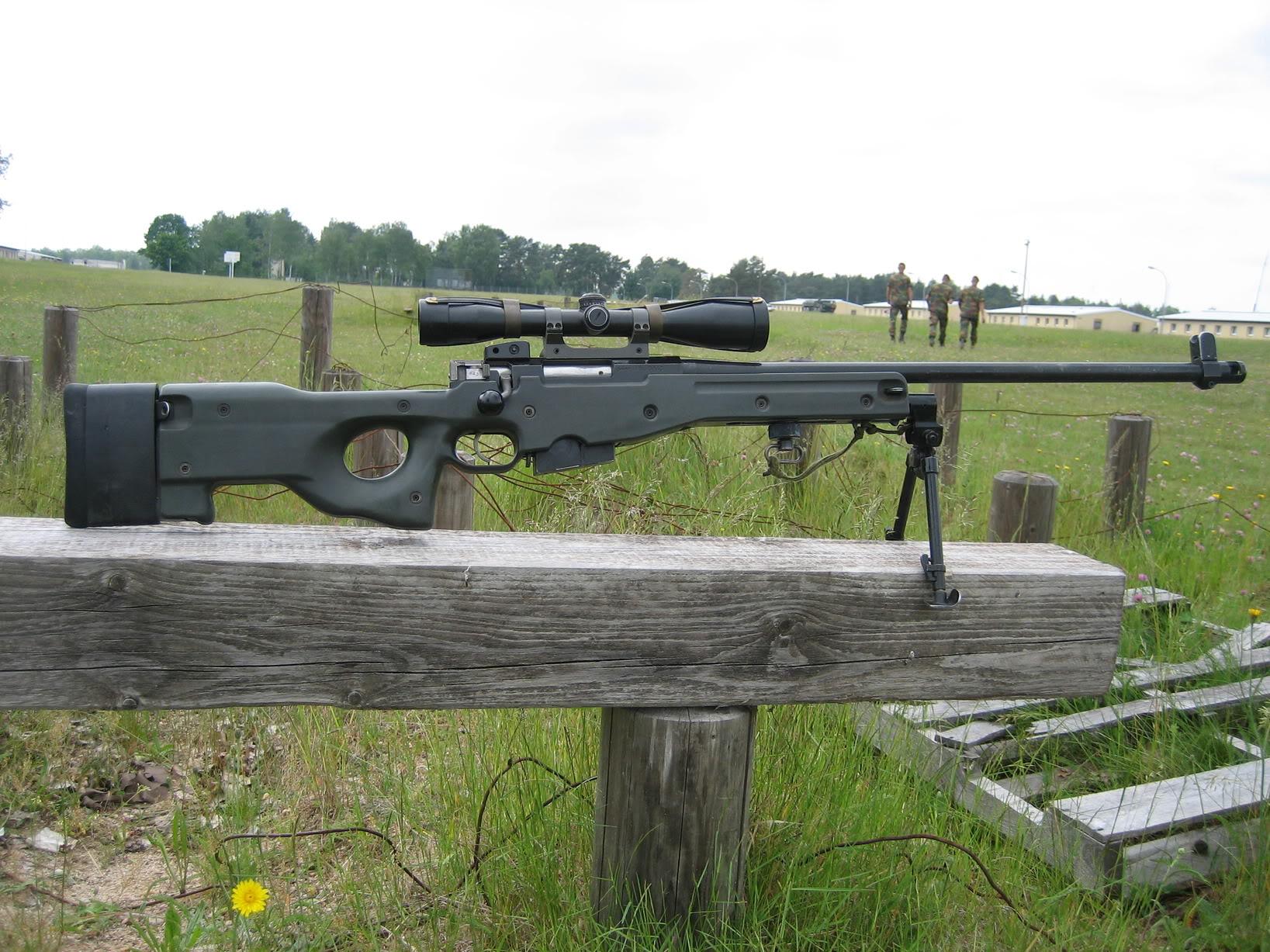AW 7.62mm rifle,  Belgian Army sniperrifle GTA2008_0483