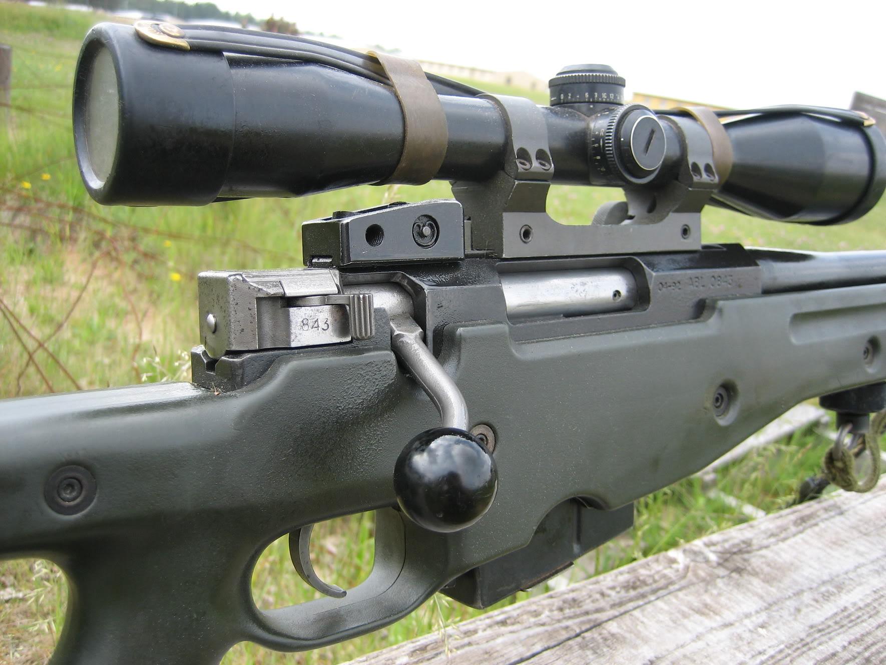 AW 7.62mm rifle,  Belgian Army sniperrifle GTA2008_0485