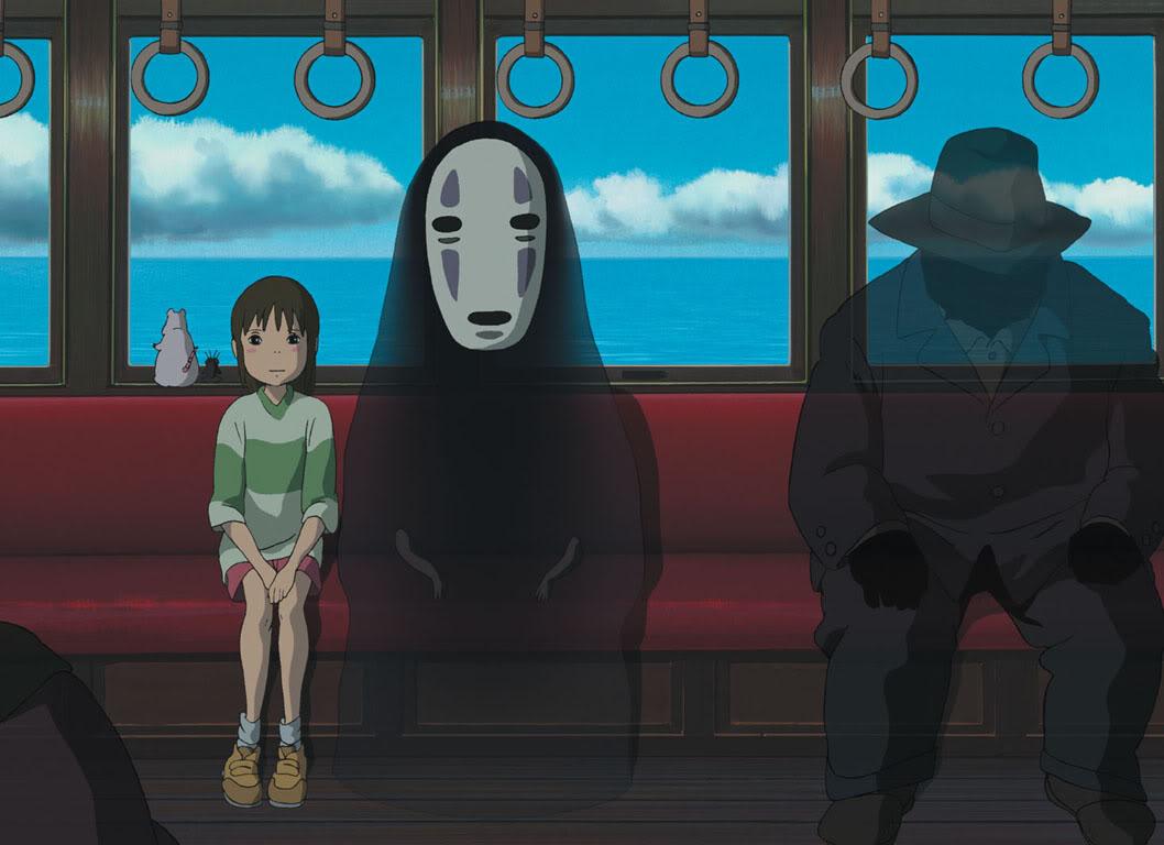 El viaje de Chihiro. Chihiro20train