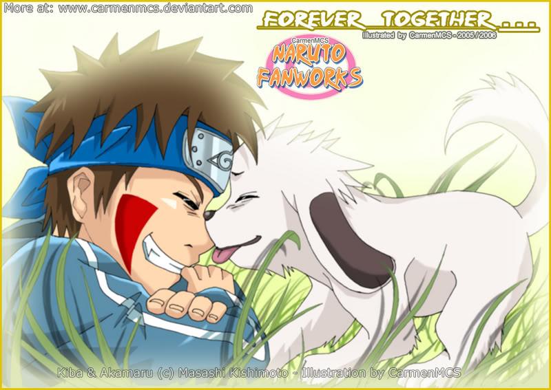 Cual es vuestro personaje preferido? - Página 3 Yeah-_Kiba_-_Akamaru