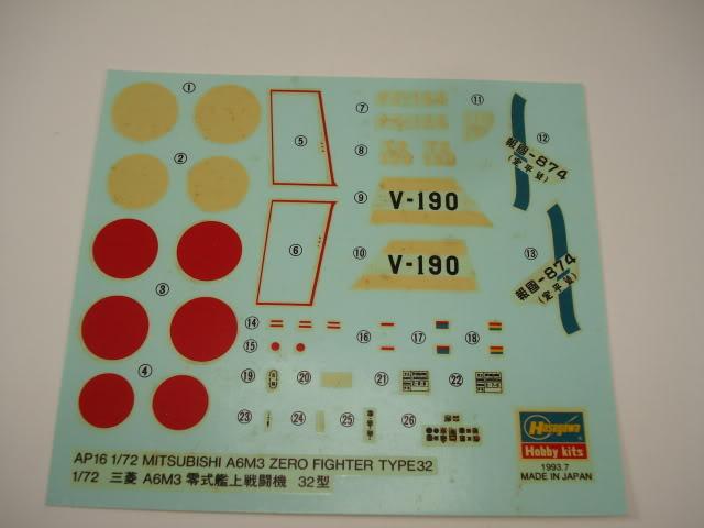 Hasegawa - A6M3 Zero Type 32 - 1/72 - Atualizado em 09-05-2012. DSC06759
