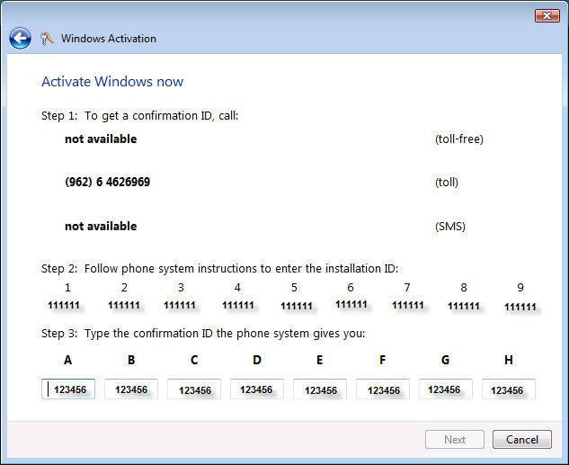 افتراضي مفتاح تنشيط ويندوز فيستا من ميكروسوفت مجانا ACT9