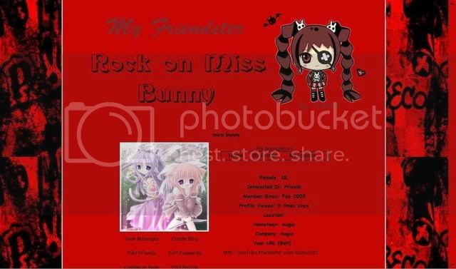 rock on miss bunny Missbunny