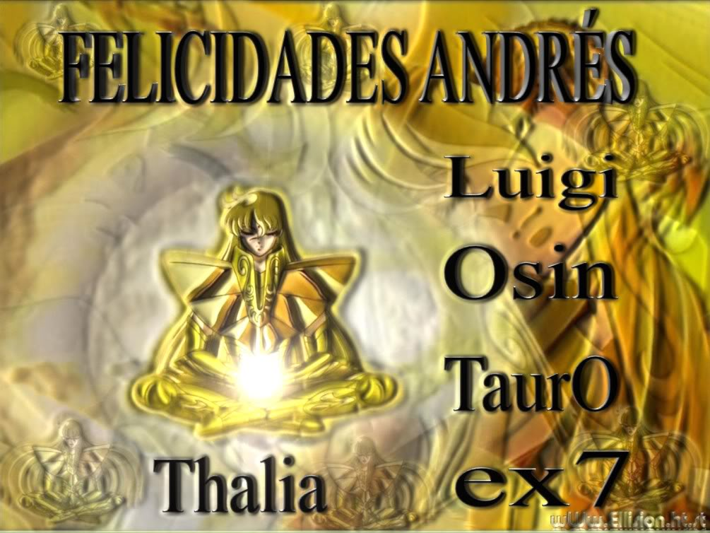 Felicidades Andrés =D !!!!!!!! CTM