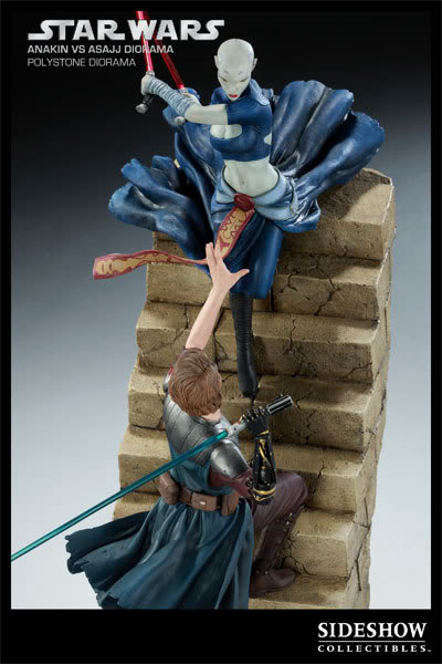 Anakin Vs Asajj Polystone Diorama 2223_press05-001