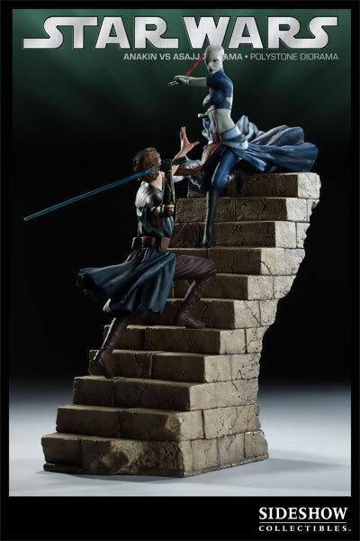 Anakin Vs Asajj Polystone Diorama 2223_press09-001