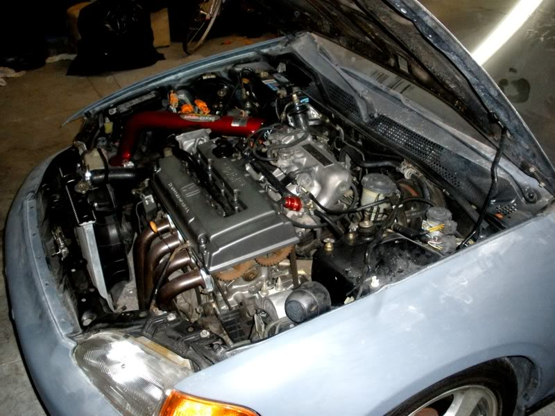 Paul's Black coupe. Engine-2