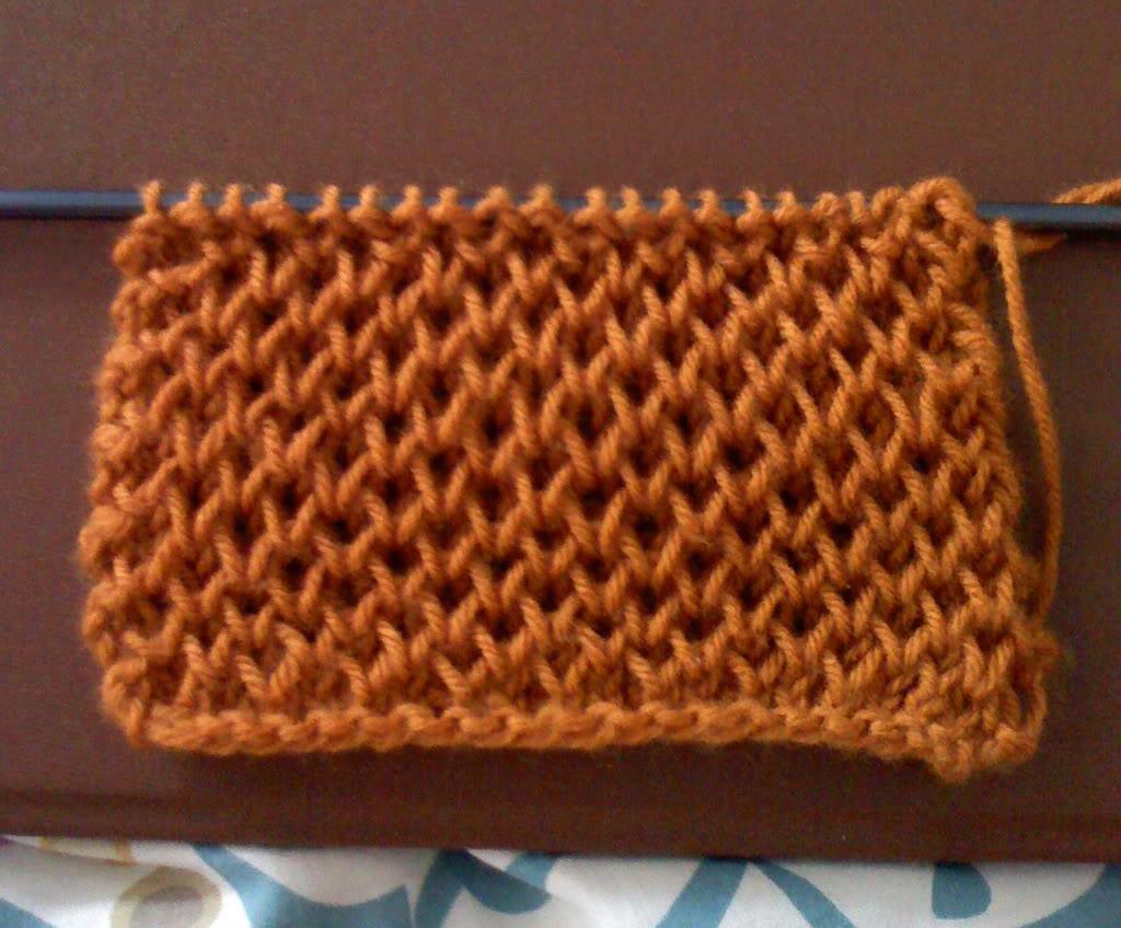 cách đan khăn xốp, mềm Brioche_honeycomb