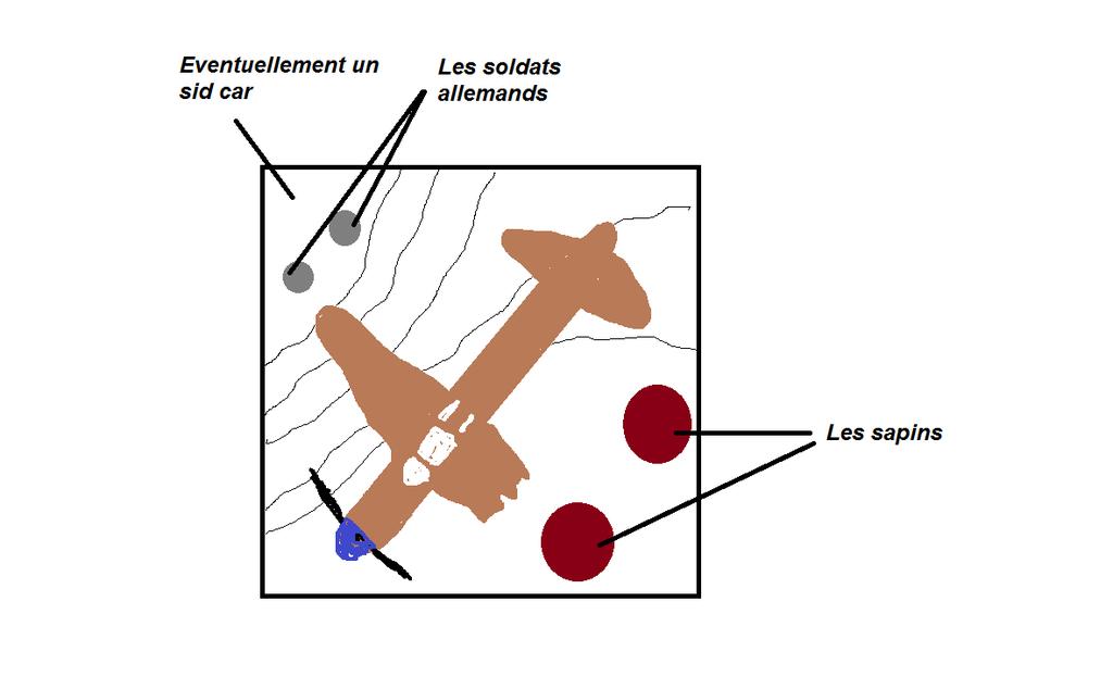 P51 écrasé dans les Ardennes - Tamiya 1/48 Plan%20diorama_zpsgrzg7abs