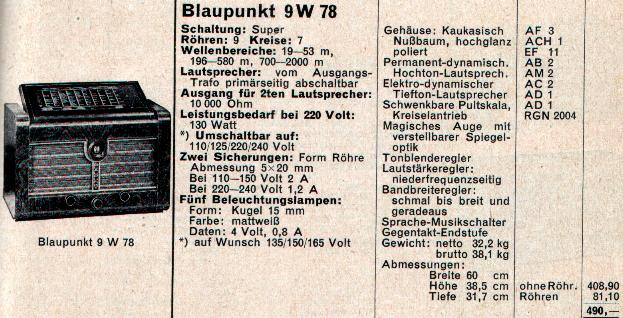 Blaupunkt 9W78 Restoration Project 9w78