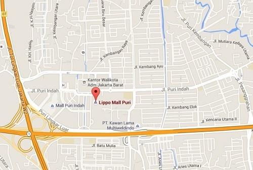Event biota laut Indofishclub bersama Lippo Mall Puri Map_zps2szp53fu
