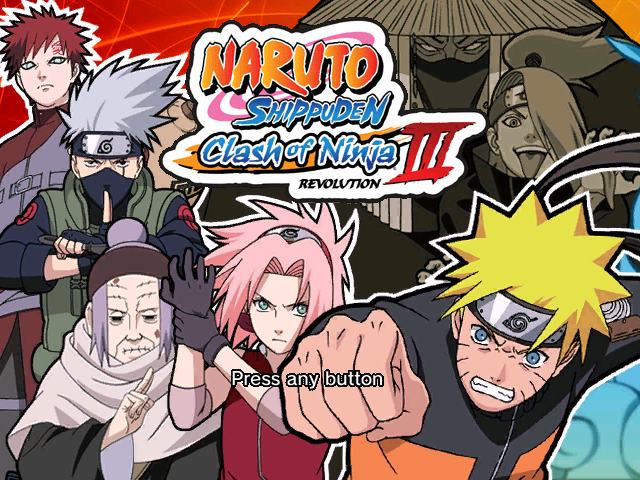 Naruto Shippuden Clash Of Ninja Recolution 3 Screenpack Mugen002