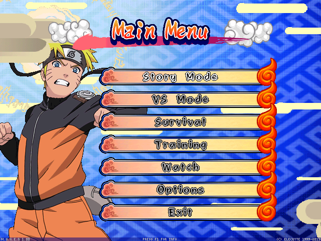 Naruto Shippuden Clash Of Ninja Recolution 3 Screenpack Mugen004-1