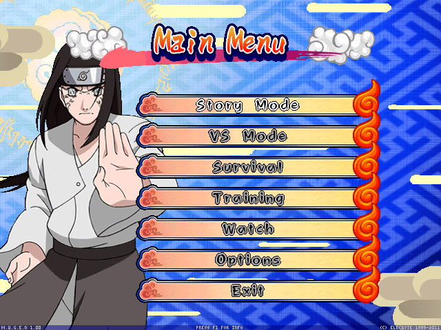 Naruto Shippuden Clash Of Ninja Recolution 3 Screenpack Mugen006-1