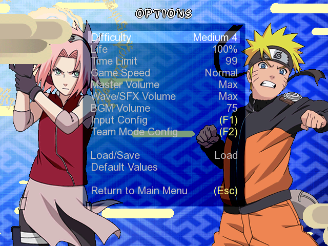 Naruto Shippuden Clash Of Ninja Recolution 3 Screenpack Mugen008