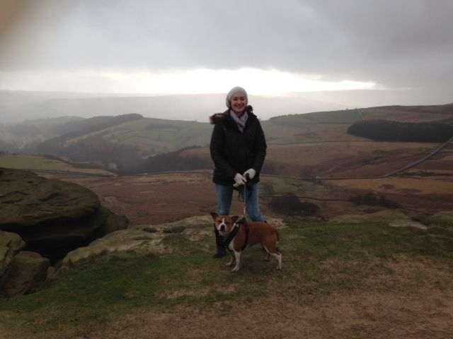 Me and Daisy on stanage edge today Photo_zps51e2574e