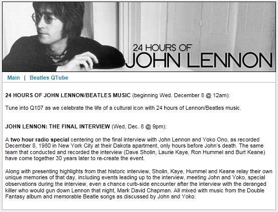 24 HOURS OF JOHN LENNON/BEATLES MUSIC (beginning Wed. December 8 @ 12am) ScreenShot027