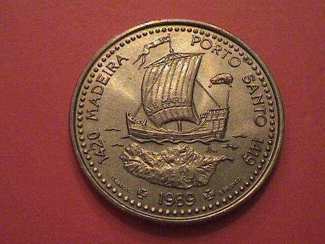 """Portugal, 100 Escudos 1989 """"Ilhas Canarias"""" SC/UNC y artículo en prensa DSC09035_zps8ec2fd3e"""